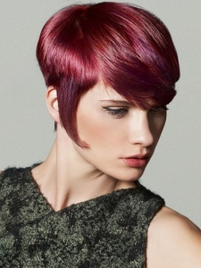 Glam Magenta Short Haircut