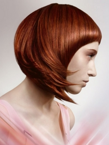 Stylish Red Bob Hair Style