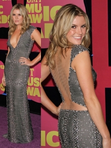 Grace Potter in Beaded Grey Dress