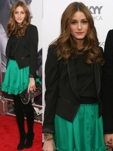 Olivia Palermo in Armani Exchange Tux Jacket