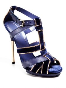 Gucci Blue Malika Platform Sandals