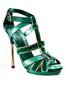 Gucci Green Malika Platform Sandals