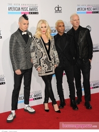 Gwen Stefani in Balmain at the 2012 AMAs