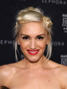 Gwen Stefani Twisted Braided Updo
