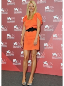 Gwyneth Paltrow in Prada Orange Dress