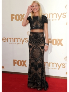 Gwyneth Paltrow in Pucci Two Piece Sheer Gown