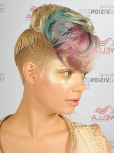 Edgy Rainbow Hair Highlights