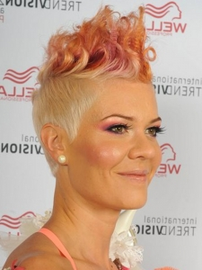 Glam Punk Two Tone Hair Style