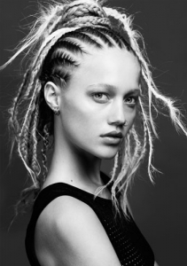 Punk Long Braided Hair Style