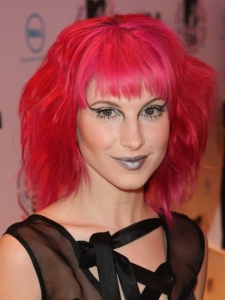 Hayley Williams Bright Pink Hair Color