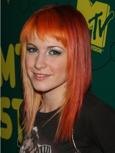 Hayley Williams with Whispy Bangs