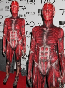 Heidi Klum in Dead Body Halloween Costume