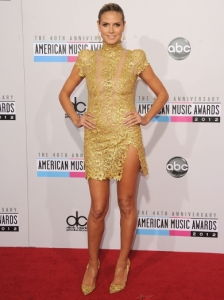 Heidi Klum in Alexandre Vauthier at the 2012 AMAs