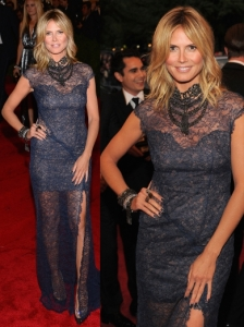 Heidi Klum in Escada Lace Dress