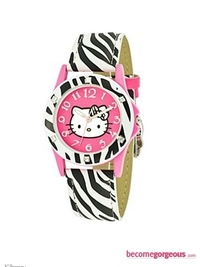 Hello Kitty Zebra Pring Strap Watch