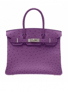 Hermes Birkin Otrich Leather Bag