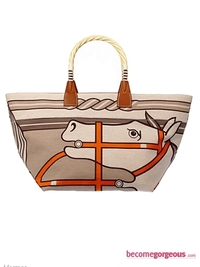 Hermes 'Steeple' Shopping Bag Quadrige