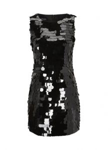Black Sequin Dress on Pictures   Chic Little Black Dresses   Mesh Wrap Bodycon Dress