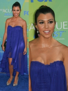 Kourtney Kardashian in Blue Blaque Label Dress