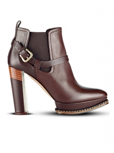 Hugo Boss Brown Leather Ankle Boots