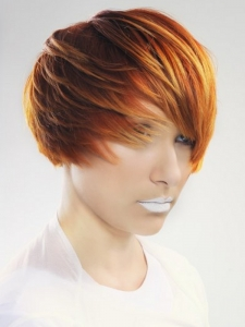 Red and Blonde Hair Highlights Idea