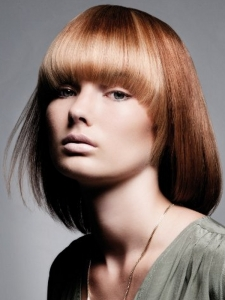 Medium Two Tone Bob Hair Style