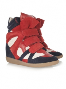 Isabel Marant High-Top Suede Sneakers