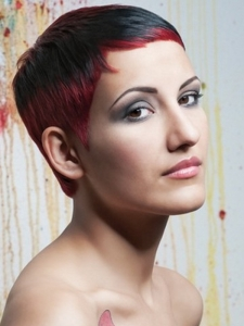 Fabulous Short Hair with Red Highlights