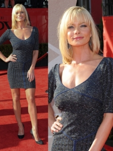 Jaime Pressly in Scoop-Neck Mini Dress