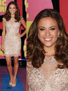 Jana Kramer in Lace Cocktail Dress