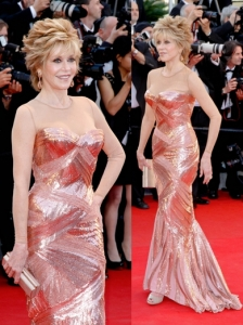 Jane Fonda in Atelier Versace Gown