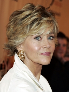 Jane Fonda's Short Flicked Hairstyle