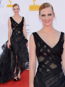 January Jones in Zac Posen Gown