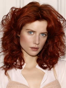 Medium Messy Red Hairstyle