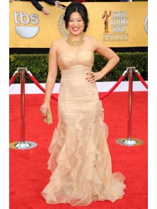 Jenna Ushkovitz in Badgley Mischka