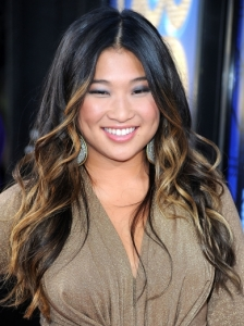Jenna Ushkowitz with Blonde Hair Highlights