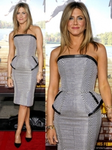 Jennifer Aniston in Tom Ford Chevron Print Dress