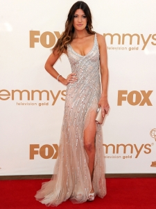Jennifer Carpenter in Tony Ward Beaded Gown