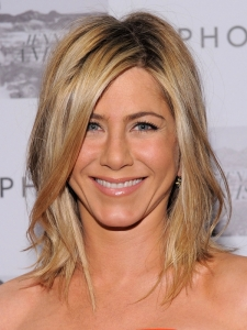 Jennifer Aniston Tousled Long Bob Hairstyle