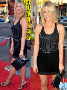 Jennifer Aniston in Balenciaga Sequin Mini Dress
