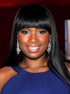 Jennifer Hudson Hairstyle with Rounded Bangs