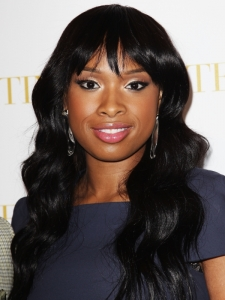Jennifer Hudson Long Hair with Whispy Bangs
