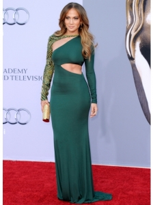 Jennifer Lopez in Emilio Pucci Cutout Dress