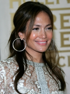 Jennifer Lopez Simple Half Updo