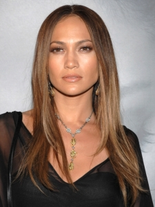 Jennifer Lopez Straight Layered Hairstyle