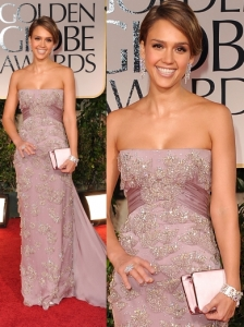 Jessica Alba in Gucci at 2012 Golden Globes