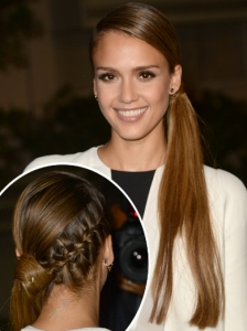Jessica Alba's Side Pony with Braid