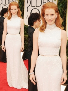 Jessica Chastain in Givenchy at 2012 Golden Globes