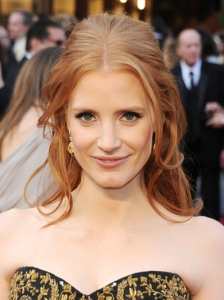 Jessica Chastain's Hairstyle from the 2012 Oscars