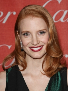 Jessica Chastain Glam Loose Curls